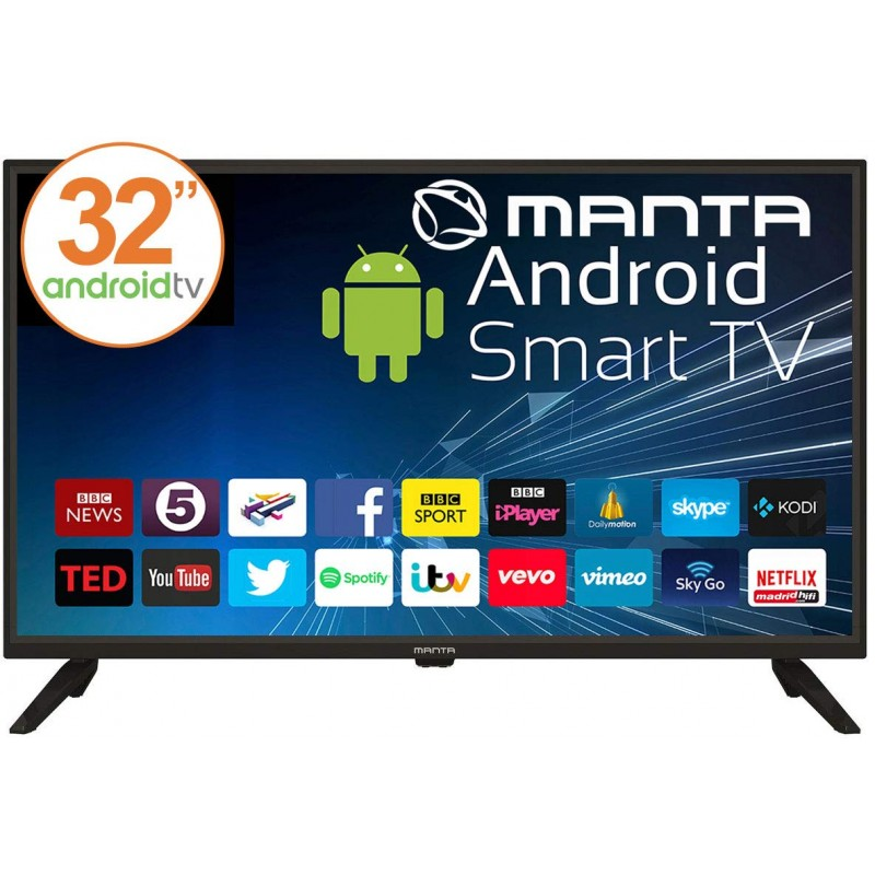 Manta 32'' LED TV 32LHA59L, Smart Android TV