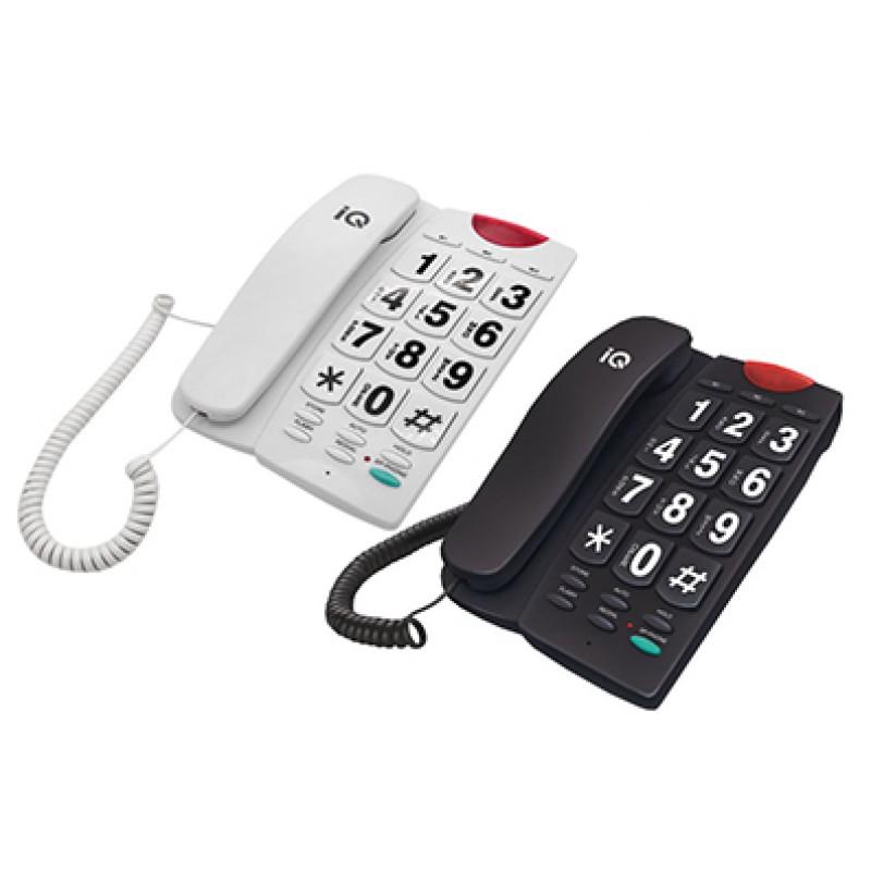 IQ DT-836BB Ενσύρματο Τηλέφωνο Μαύρο/Λευκό