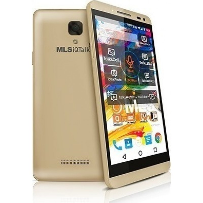 "MLS iQTalk Color Dual 4G (16GB) Smartphone 5"" IPS 1280x720 Champagne"